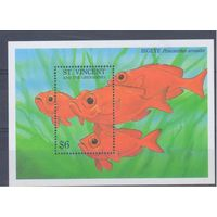 [275] Сент-Винсент и Гренадины 1993. Морская фауна.Рыбы. БЛОК.