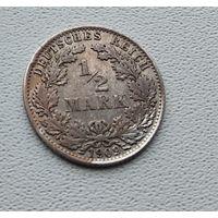 "Германия 1/2 марки, 1909 ""A"" - Берлин 7-10-24"