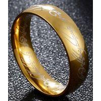 Кольцо Всевластия Властелин колец качество!!! 3 штуки черное!!!позолота,посеребрение!!!