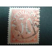 Германия 1920 служебная марка 27