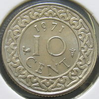 Суринам 10 центов 1971