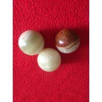 Нефритовые Лунный камень шары 3 штуки
