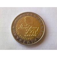 Словения 2 евро, 2007г. Франц Прешерн (1800-1849)