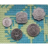 Бангладеш набор монет 1, 10, 25, 50 пойша; 1 така, UNC