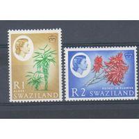 [1153] Брит.колонии Свазиленд 1962.Елизавета II.1 R,2 R.