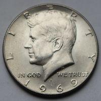 1/2 доллара США 1969 D (серебро)