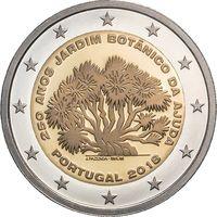 2 евро 2018 Португалия 250-летие Ботанического сада Ажуда UNC из ролла