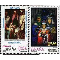 ИСПАНИЯ 2005 (Ми 4086-4087 ) Живопись Рождество Короли | Религия  MNH ** (И)