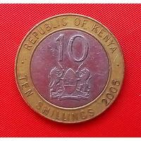 59-26 Кения, 10 шиллингов 2005 г.