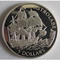 Кука о-ва, 10 долларов, 1992, серебро, пруф