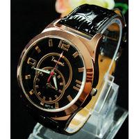 Часы наручные  Relogio. Reloj Masculino. чёрный циферблат.  распродажа