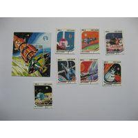 Вьетнам Космос Живопись 1988 Mi 1950-56 Bl 63А