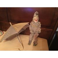Кукла Клоун Винтажный Германия 54 см фарфор