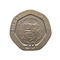 Остров Мэн 20 пенсов 1993