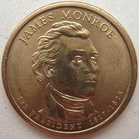 США 1 доллар 2008 г. (P) 5-й Президент США Джеймс Монро (j)