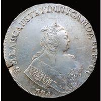 Рубль 1744 года.  ММД.  Биткин - R1.