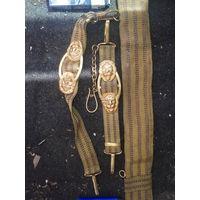Ремень позолоченый с золочеными нитями вмс ссср