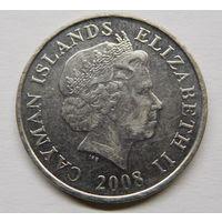 Каймановы острова 25 центов 2008 г