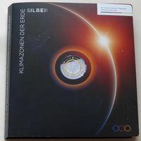 """YS: Альбом для немецких монет с полимерным кольцом """"Климатические зоны мира"""""""