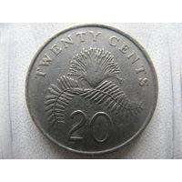 Сингапур 20 центов 1986 г.