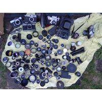 Супер лот, объектив, фотоаппарат и др , распродажа с рубля