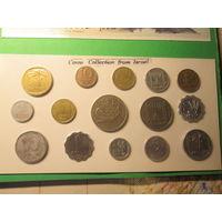 АЗИЯ ИЗРАИЛЬ Коллекция 15 монет Цена комплекта 13,2 руб.