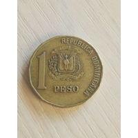 Доминиканская республика 1 песо 2000г.