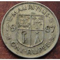 5617:  1 рупия 1987 Маврикий