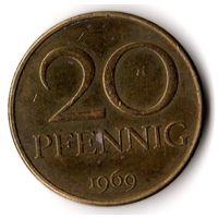 Германия ГДР 20 пфеннигов 1969