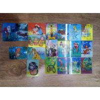 Коллекция советских календариков-переливашек 1970-1980-х годов