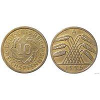 YS: Германия, 10 рейхспфеннигов 1925A, KM# 40 (2)