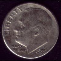 1 дайм 1983 год D США