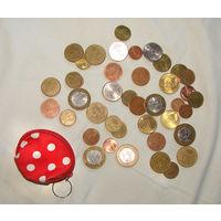 Мини-кошелек для монет, монетница цвета яркого мухомора, очень удобная, вместительная, новая