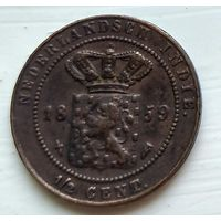 Голландская Ост-Индия 1/2 центa, 1859 1-1-60