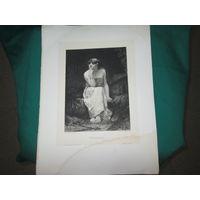 Гравюра Herodias ср.19 века,размер 40х30 см