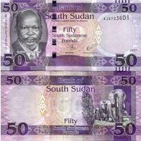 Южный Судан 50 фунтов 2017 год UNC