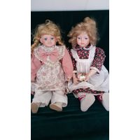Кукла винтажная фарфоровая. 68-70 см