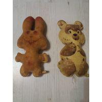 Надувной медведь и заяц,резиновые СССР,одним лотом.