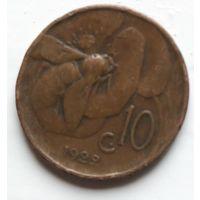 Италия 10 чентезимо, 1922 2-11-5