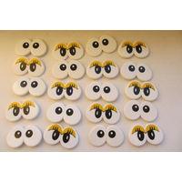 Глаза большие для мягких игрушек ,для детского творчества и поделок Б/У 20шт.