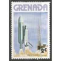 "Гренада. Старт корабля ""Шатл"" с челноком. 1978г. Mi#891."