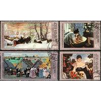 Марки СССР 1978 год.100-летие со дня рождения Б.М.Кустодиева. 4802-4805