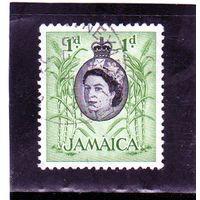 Ямайка. Mi:JM 162. Сахарный тростник Серия: Королева Елизавета II и местных виды (1956-58).