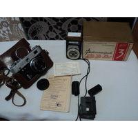 Фотоаппарат Фэд3 с коробкой и паспортом.