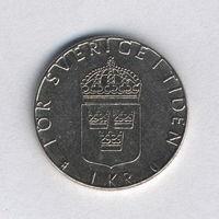 Швеция, 1 крона 1983 г.