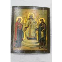 Икона Деисус , 19 век, размер 31*26. Школьное письмо.