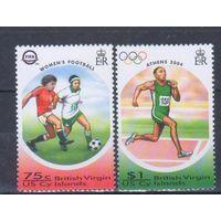 [2397] Британские Виргины 2004. Спорт.Футбол.Летние Олимпийские игры. СЕРИЯ MNH