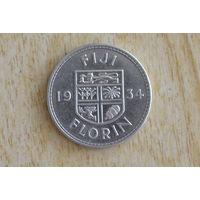 Фиджи 1 флорин 1934(серебро)