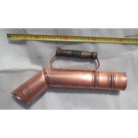 Медная труба для улучшения тяги дровяного самовара.