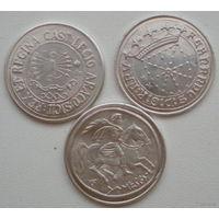 Копии античных серебряных монет, 3 шт., серебро, одним лотом